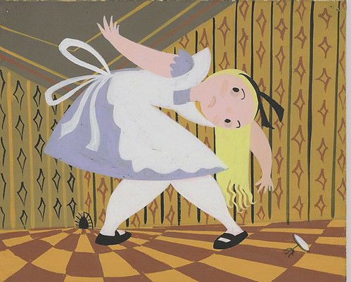 "Another ""Alice"" concept piece by Mary Blair"