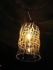 lamp(1.0), incandescent light bulb(1.0), light fixture(1.0), yellow(1.0), light(1.0), chandelier(1.0), electricity(1.0), design(1.0), darkness(1.0), lantern(1.0), lighting(1.0),