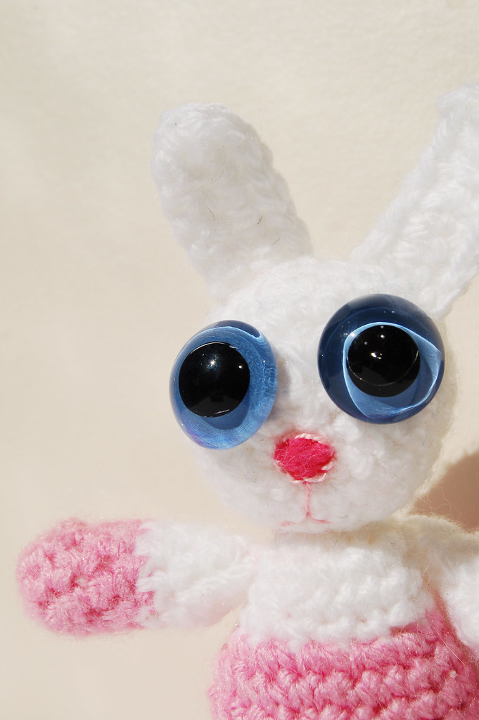 Amigurumi Bunny by iHanna called Eye-Boo the Bunny