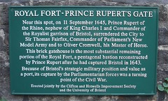 Photo of Rupert, Thomas Fairfax, and Oliver Cromwell green plaque
