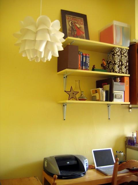 new kitchen office shelves above chris 39 desk flickr. Black Bedroom Furniture Sets. Home Design Ideas