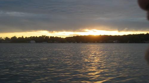 sunset clouds crookedlake