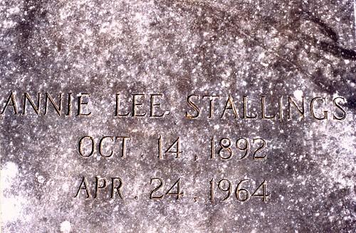 Grave of Annie Lee Hicks-Stallings