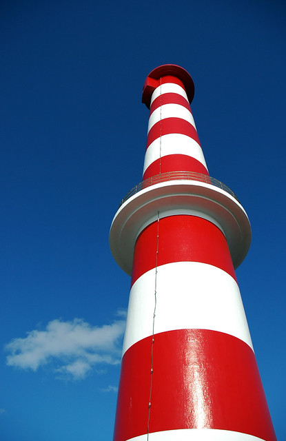 Stripe light house