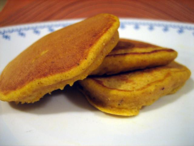 yummy pumpkin pancakes....naked | virgin pancakes, before bu ...