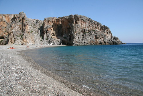 Greece, Crete, Beach at Ag.Nikolaos Gorge