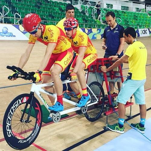 Adolfo Bellido Mundial de Ciclismo Adaptado en Río de Janeíro