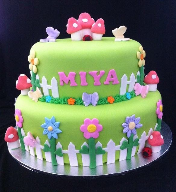 Garden Tea Party Cake by Bake Angels Perth
