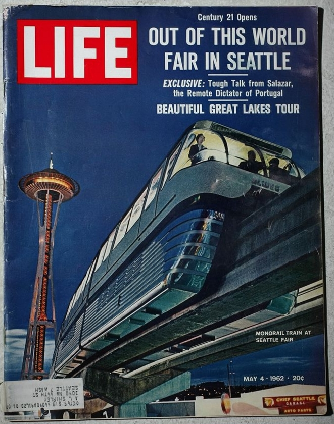 The May 4, 1962, edition of LIFE magazine depicted the Space Needle and monorail on its cover.