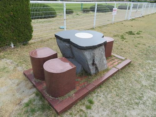 福島競馬場の内馬場のテーブル