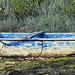 Small Blue Boat at Keyhaven