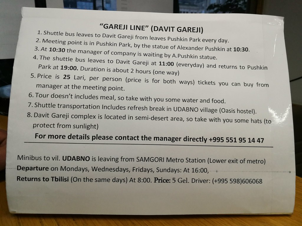 How to get to Davit Gareja from Tbilisi