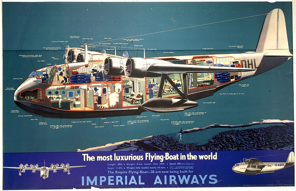 Short S.23 Empire - Imperial Airways - The most iuxurius Flying-Boat in the world