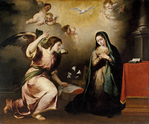 Bartolomé Esteban Murillo (Spanish, 1618-1682) - The Annunciation (La Anunciación), ca. 1650