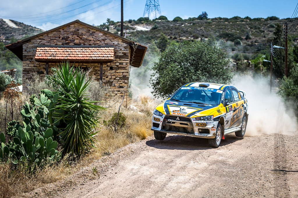 18 ALONSO Juan Carlos (ARG) MONASTEROLO Juan Pablo (ARG), JUAN CARLOS ALONSO, MITSUBISHI LANCER EVO X, action during the 2018 European Rally Championship ERC Cyprus Rally,  from june 15 to 17 at Larnaca, Cyprus - Photo Thomas Fenetre / DPPI