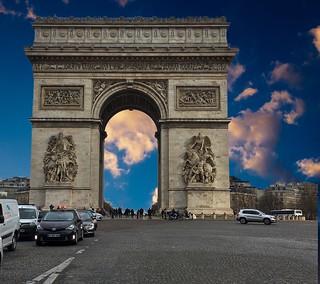 Paris  France ~  The Arc de Triomphe de l'Étoile  - Triumphal Arch of the Star