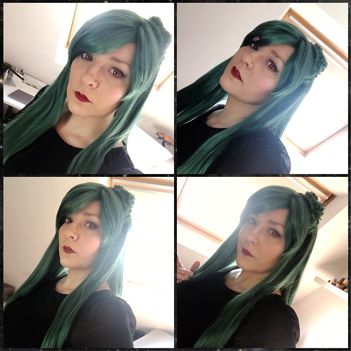 Sailor Pluto, wig and make-up test