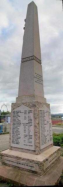Stobhill War Memorial Reverse Sides.