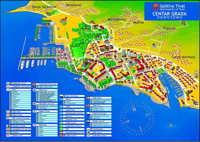 Туристическая карта Тивата