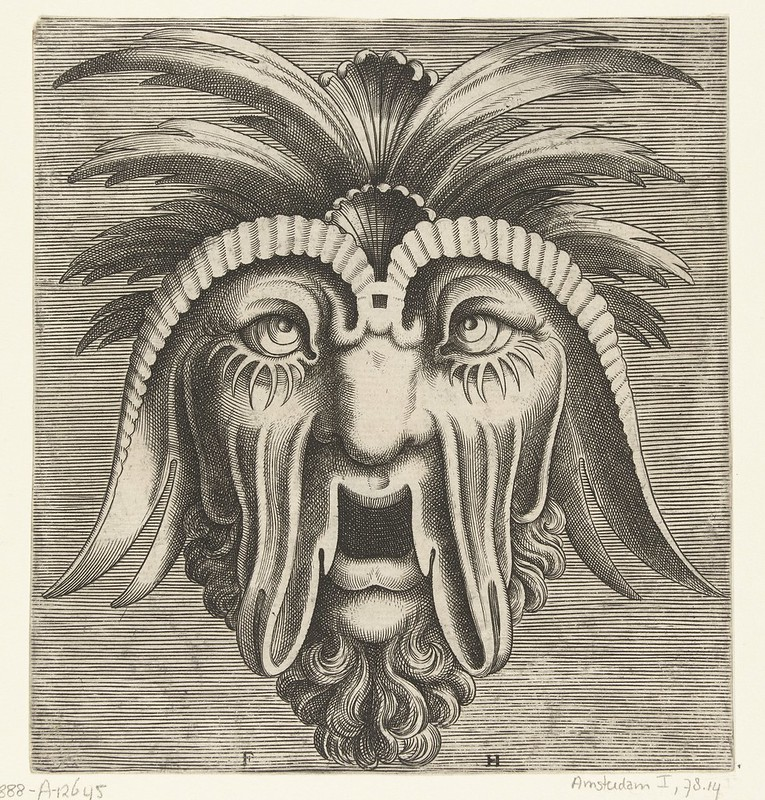 004-Flemish mask designs in the grotesque style 1555- Cornelis Floris- Rijksmuseum