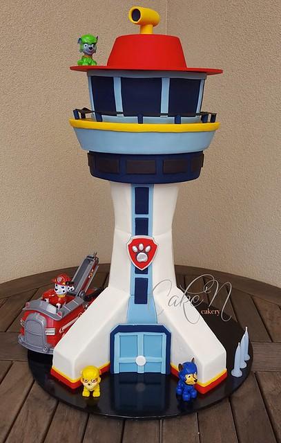 Paw Patrol Tower Cake by Cake'N Cakery