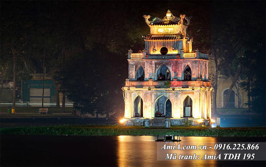 AmiA 195 - Tranh đẹp về quê hương hồ Gươm tháp Rùa
