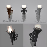 Medieval Touch Lamps 3D Models