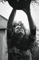 Black & White - Lisa in the Garden