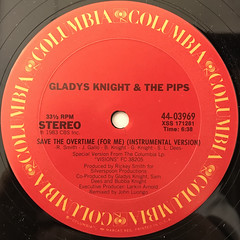 GLADYS KNIGHT AND THE PIPS:SAVE THE OVERTIME(FOR ME)(LABEL SIDE-B)