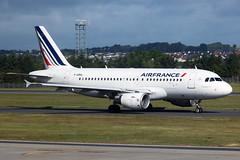 Airbus A319 F-GRHL Air France - Edinburgh Airport 14/6/18