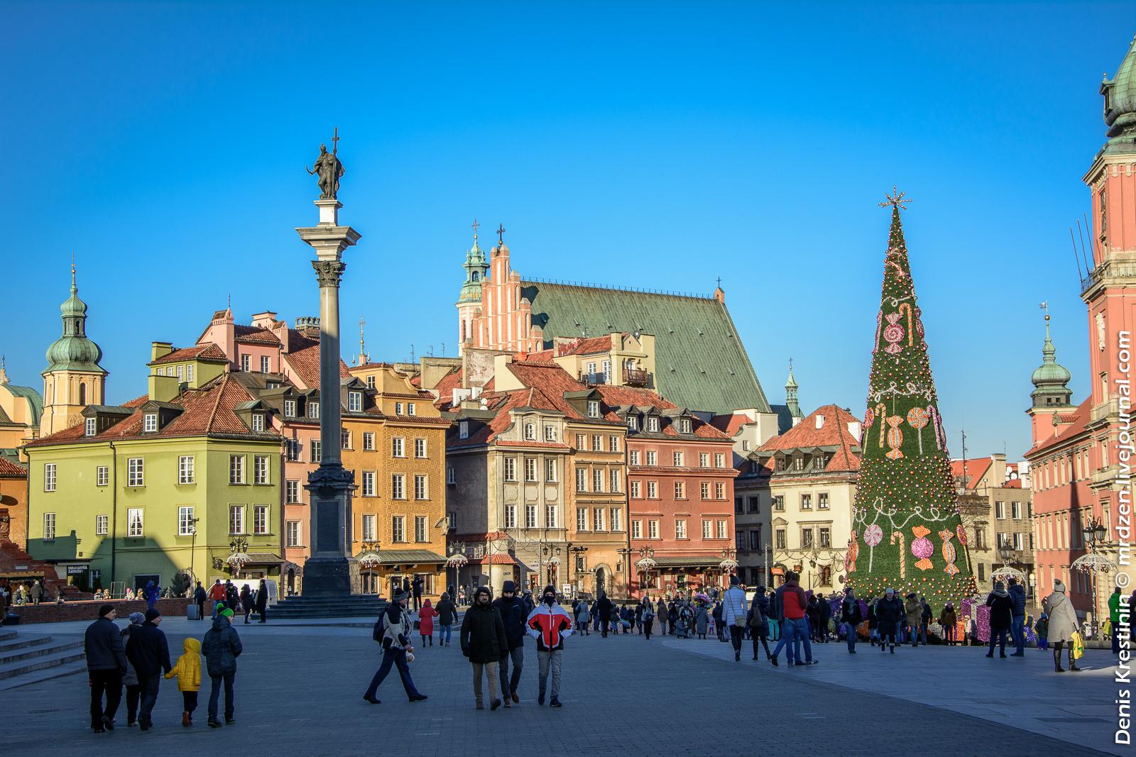 Варшава. Старый город. Замковая площадь.