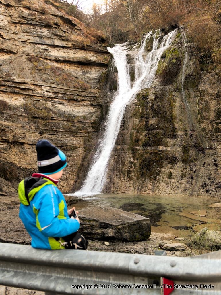 La cascata del Presalino vista dalla strada