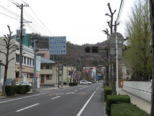 福島競馬場へ信夫山公園経由で歩く