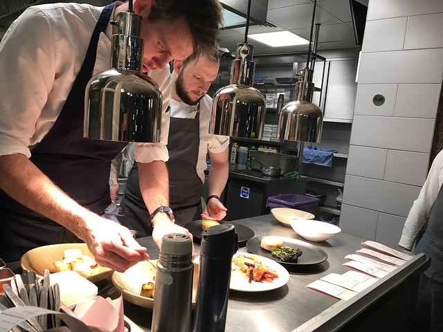 Frenchie, head chefs doing the plating