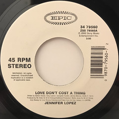 JENNIFER LOPEZ:LOVE DON'T COST A THING(LABEL SIDE-A)