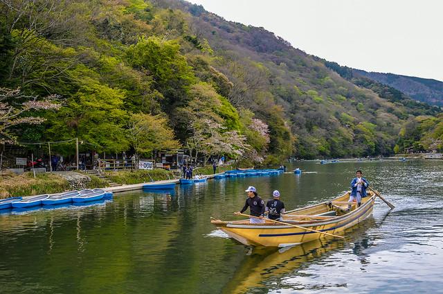 Boat up close Arashiyama