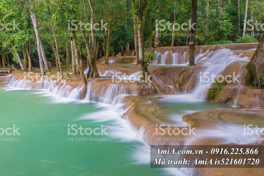 Phong cảnh thác nước đẹp trong rừng cây