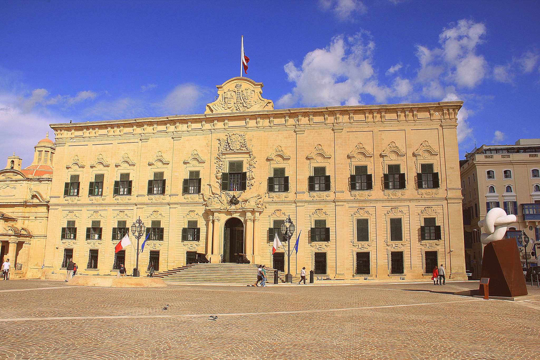 Valletta is famous for golden hued buildings