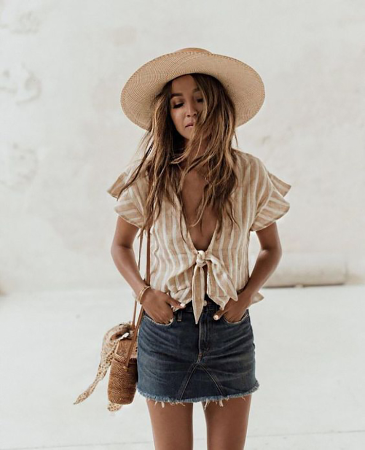straw hat outfits for this summer trend 2018 style fashion tendencias1