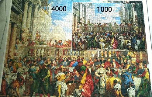 Big & Small - The Wedding Feast in Cana (size comparison) | by Puzzabell