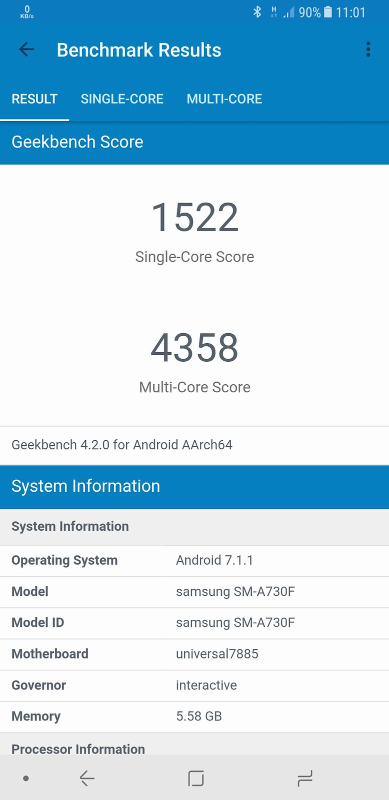 Samsung Galaxy A8/A8+ Screenshots
