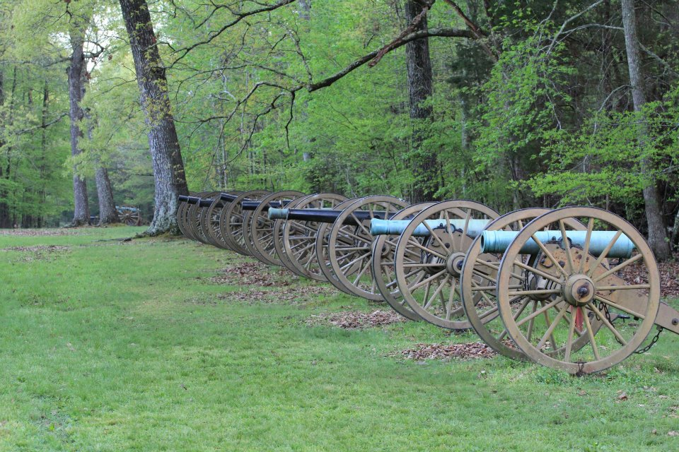 Ruggles' Battery at Shiloh National Military Park. Photo taken on March 31, 2012.