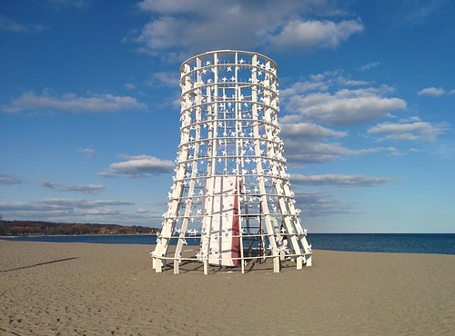 Wind Station (2) #toronto #winterstations #beaches #woodbinebeach #windstation #publicart #latergram