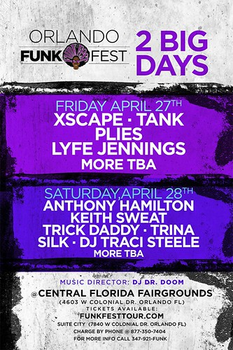 """Orlando Funk Fest"" with Grammy-nominated Tank, Xscape, & Plies"