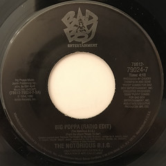 THE NOTRIOUS B.I.G.:BIG POPPA(RADIO EDIT)(LABEL SIDE-A)