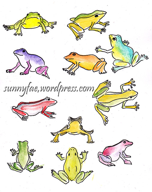 mini toy frogs