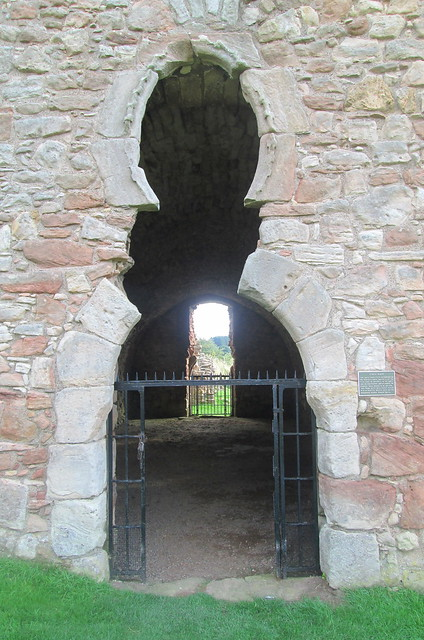 Crichton Castle, View Through Stables