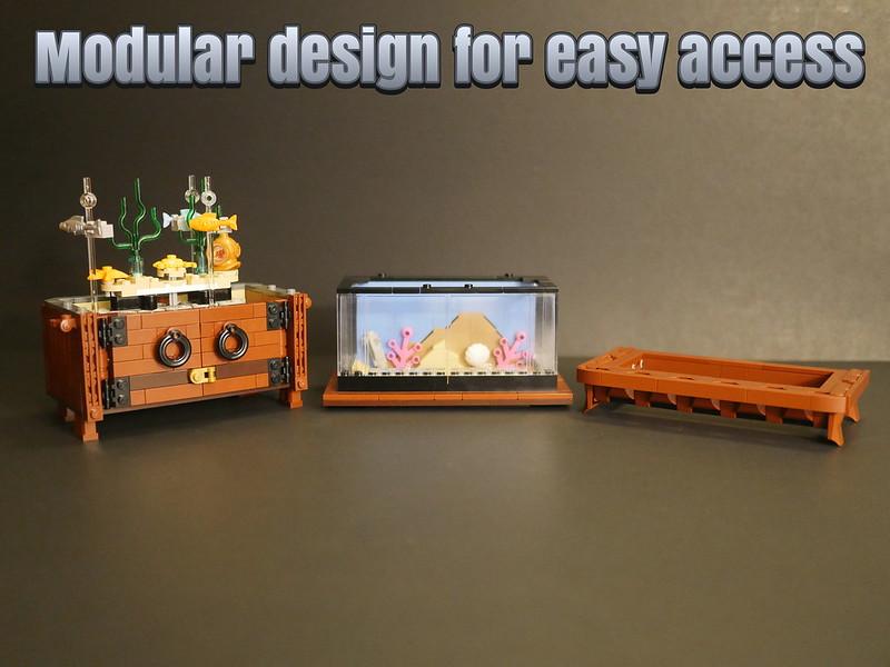 Lego Clockwork Aquarium - Modular Design