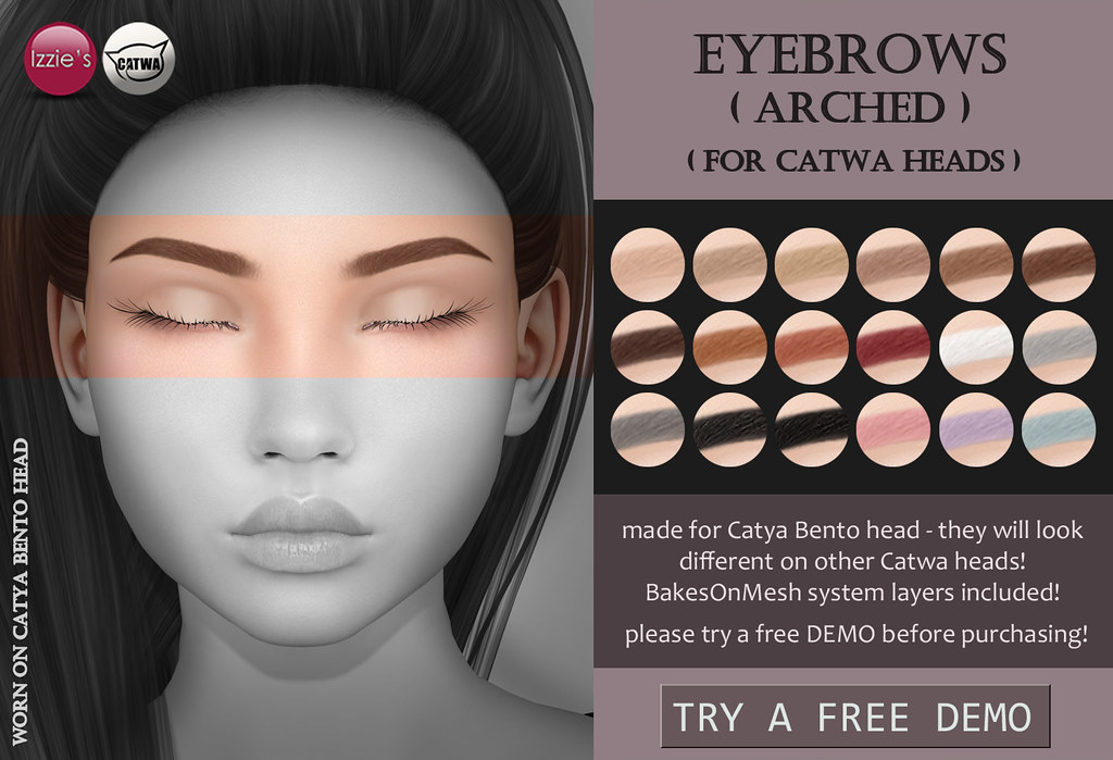 Catwa Eyebrows arched - TeleportHub.com Live!