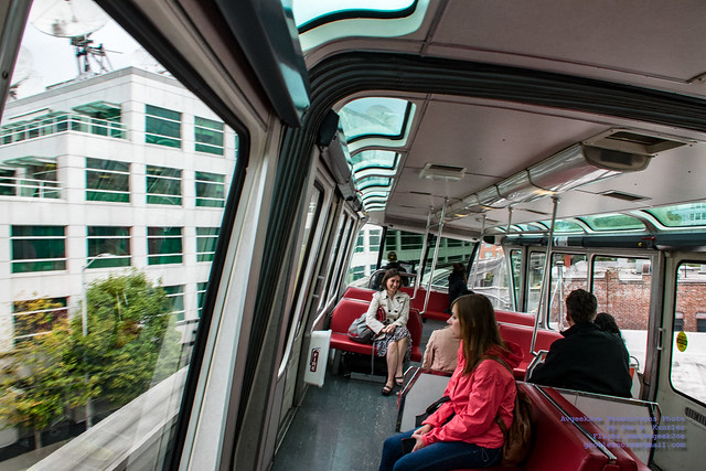 Inside a Seattle Monorail Racing Past KOMO Studios